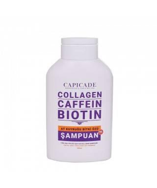 Capicade Collagen Caffein Biotin At Kuyruğu Bitki Özü Şampuan 300 ml