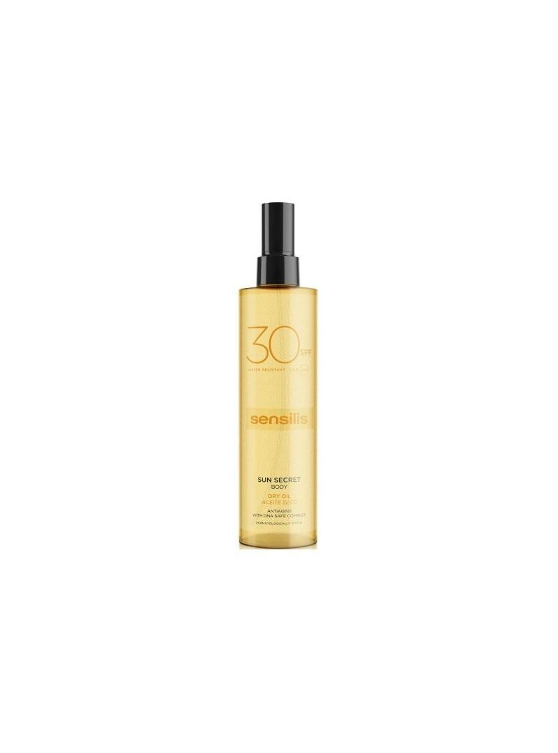Sensilis Sun Secret Body Dry Oil spf30+ AntiAging 200 ml-Güneş Korumalı Nemlendirici Vücut Yağı