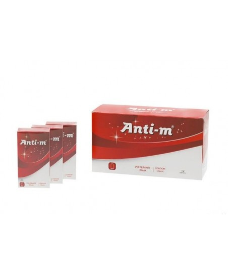 Anti-M KLASİK 12 Adet Prezervatif