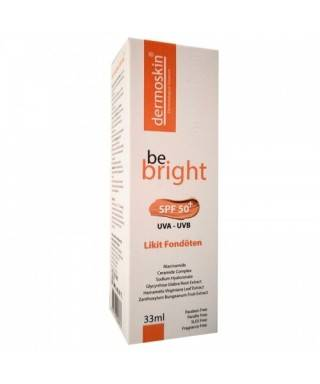 Dermoskin Be Bright SPF50+ Likit Fondöten 33ml - Medium