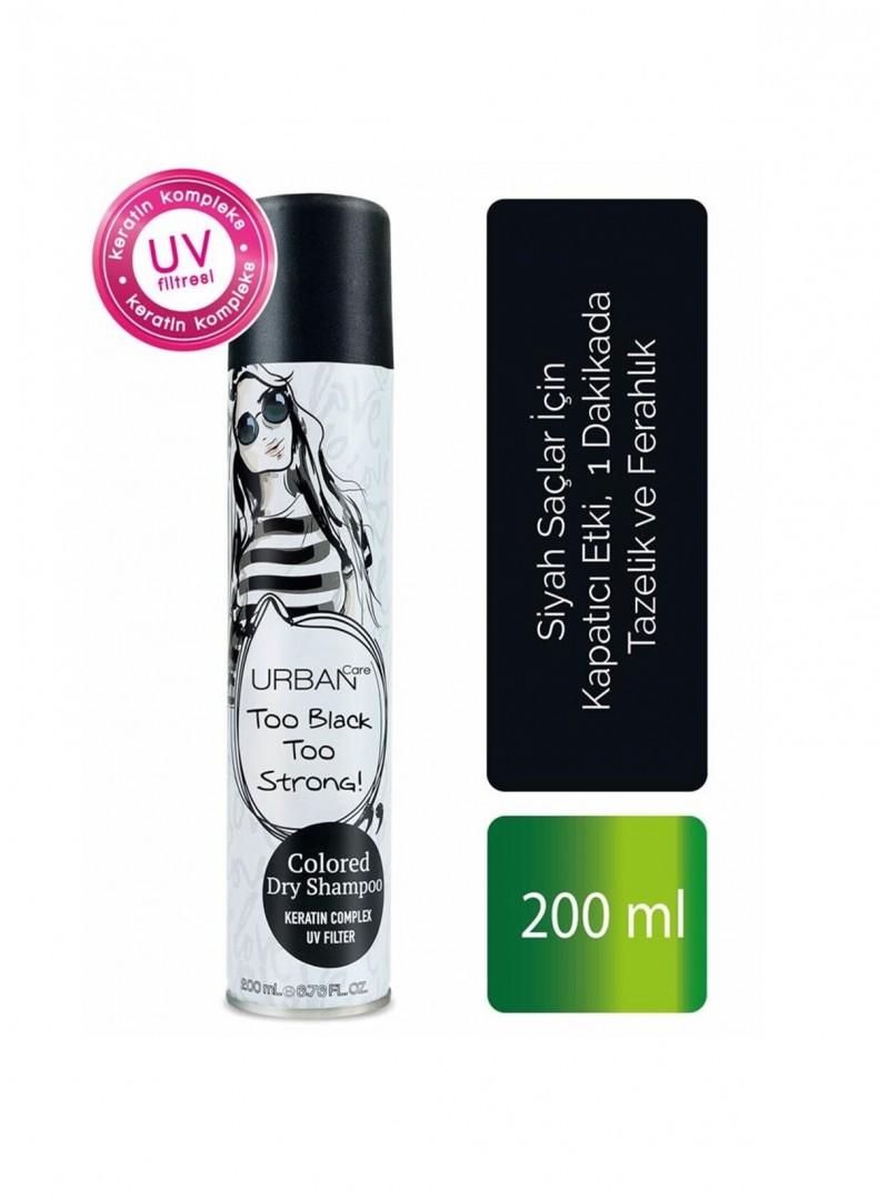 Urban Care Siyah Saçlar İçin Kapatıcı Etki Tazelik ve Ferahlık Veren Kuru Şampuan 200 ml-Tüm Saç Tipi