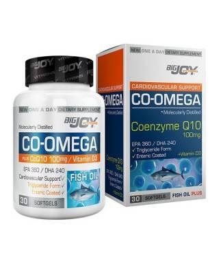 BigJoy Vitamins Co-Omega Coenzyme Q10 100 mg-30 Yumuşak Kapsül