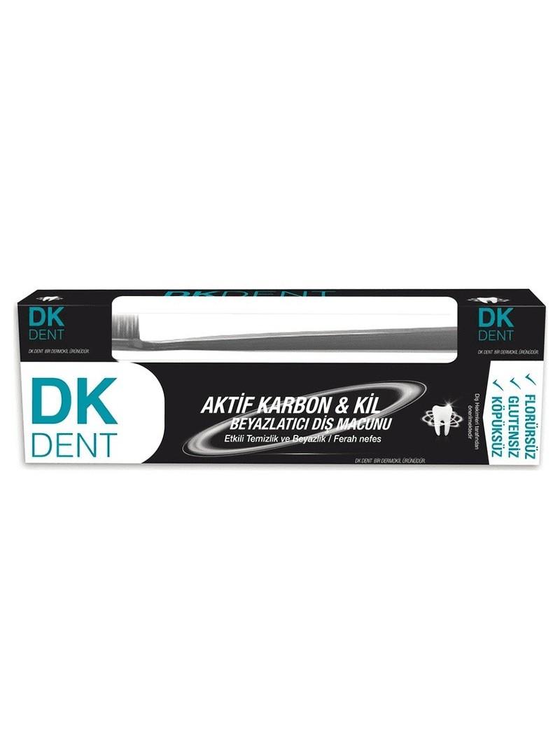 Dermokil Dk Dent Kil Ve Aktif Karbonlu Diş Macunu Florürsüz Diş Macunu HEDİYE 75ml