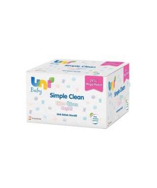Uni Baby Simple Clean Islak Bebek Mendili 24x72 Adet