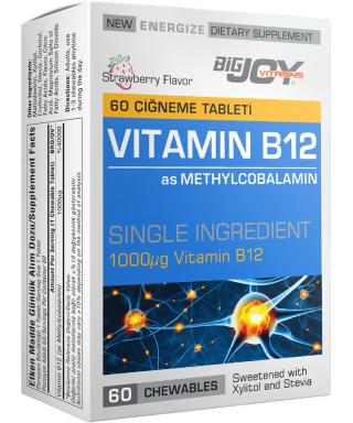 Bigjoy Vitamins Vitamin B12 60 Çiğneme Tablet