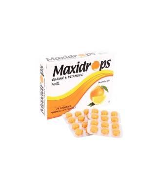 Maxidrops Pastil Portakal ve C Vitamini 24'lü