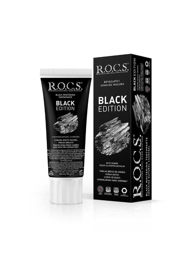 Rocs Black Edition Diş Macunu 60 ml