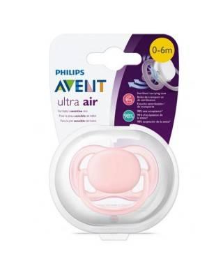 Philips Avent Ultra Air Anatomik Emzik Tekli Pembe 0-6 Ay SCF445/10