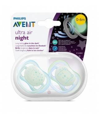 Philips Avent Ultra Night Air Emzik 0-6 Ay 2li Erkek SCF376/11