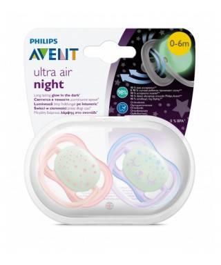 Philips Avent Ultra Night Air Emzik 0-6 Ay 2liKız SCF376/12