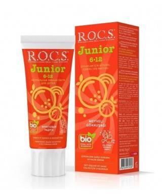 Rocs Junior 6-12 Yaş Meyveli Gökkuşağı Diş Macunu 60 ml