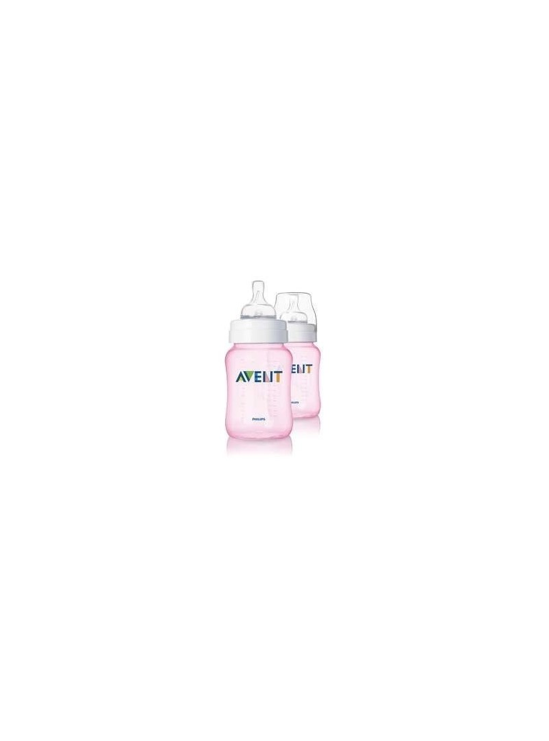Philips Avent Biberon 260ml 2'li Pembe