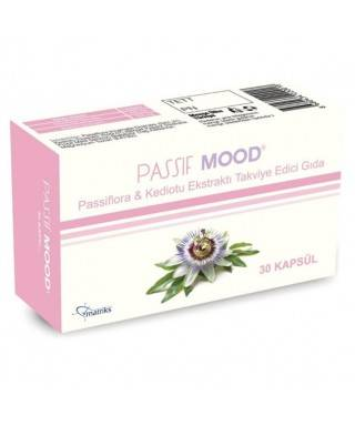 Passif Mood  Passiflora Ekstraktı Takviye Edici Gıda 30 Kapsül