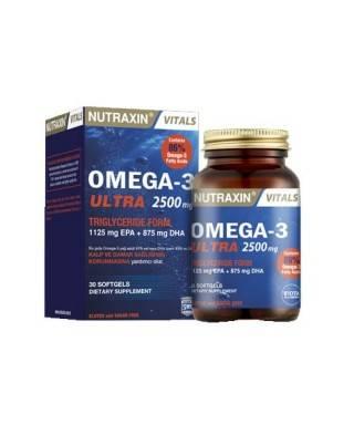 Nutraxin Omega-3 Ultra 2500 mg 30 Yumuşak Kapsül