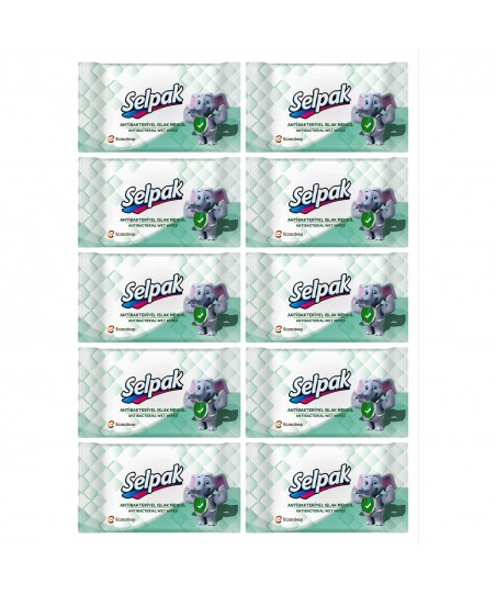 Selpak Antibakteriyel Islak Cep Mendili 10lu Paket