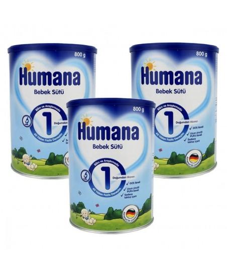 Humana 1 Bebek Sütü 800 gr  (3lü Avantaj Paketi)