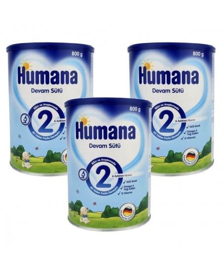 Humana Devam Sütü 2 800 gr (3lü Avantaj Paketi)