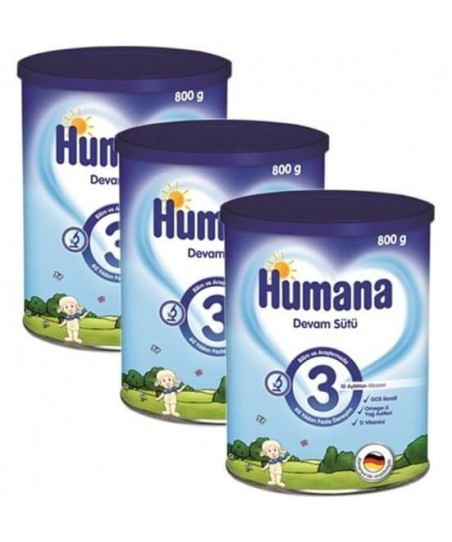 Humana 3 Devam Sütü 800 gr  (3lü Avantaj Paketi)