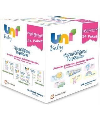 Uni Baby Islak Mendil Oyna & Öğren 52 Adet 24lü Paket
