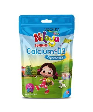 Voonka Kids Niloya Gummies Calcium D3 Çiğnenebilir 30 Tablet - Meyve Sulu