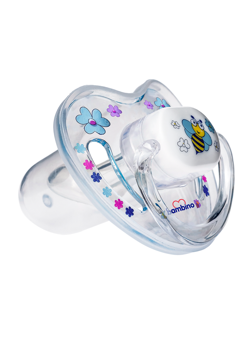 Bambino Desenli Silikon Damaklı Uçlu Emzik No 3 BE 807