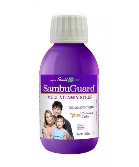 Suda Vitamin SambuGuard  Kara Mürver Ekstresi Şurubu 120ml