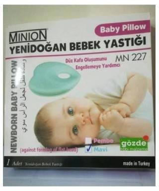 Minion Yenidoğan Bebek Yastığı Mavi Mn 227