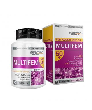 Bigjoy Vitamins MultiFem 50+ 50 Kapsül