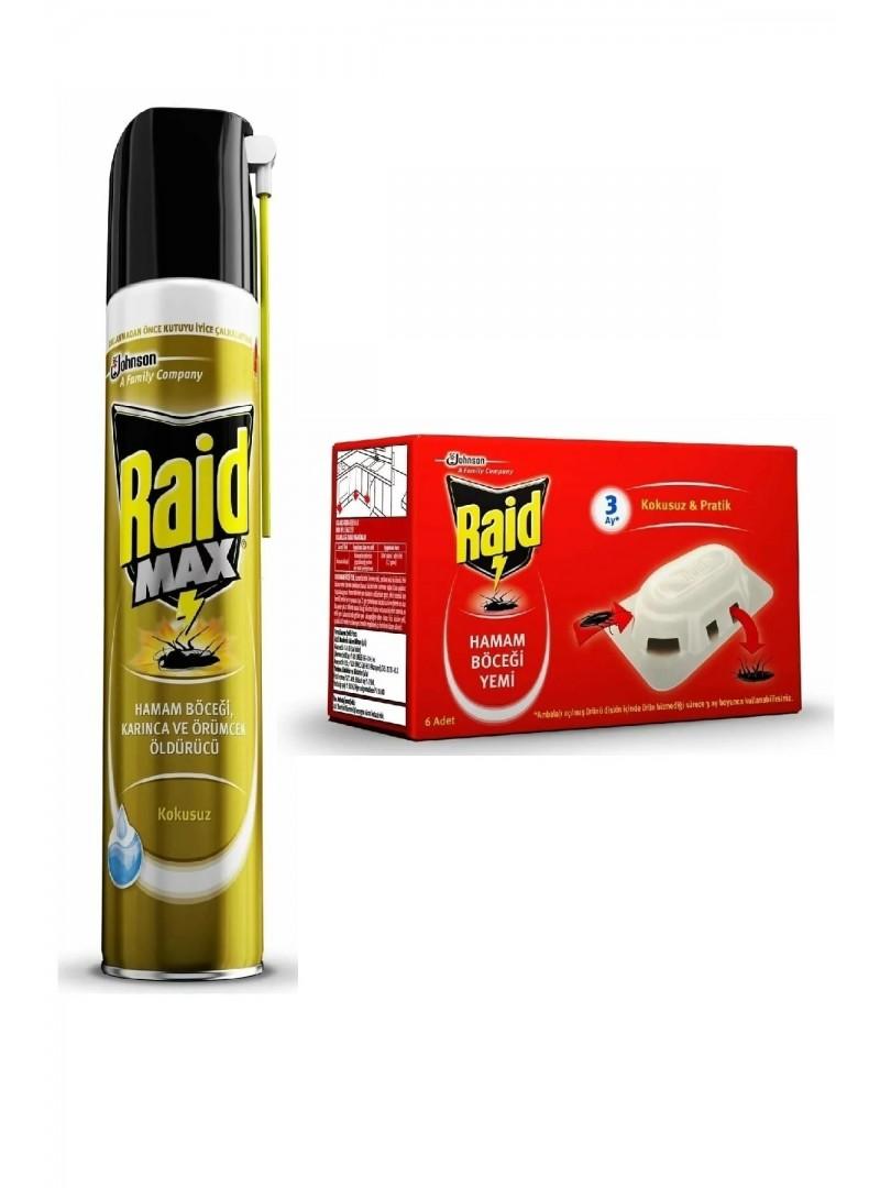 Raid Böceksavar Max 300 ml + Hamam Böceği Yemi