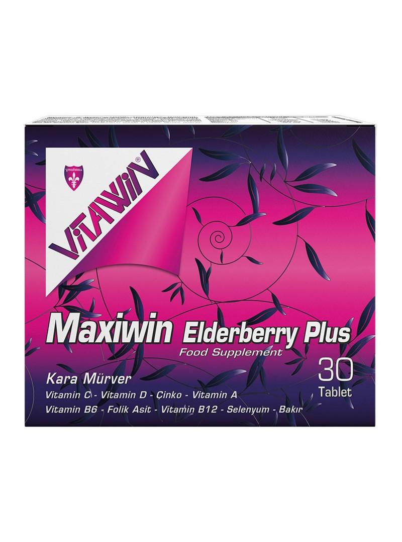 Vitawin Maxiwin Elderberry (Kara Mürver ) Plus 30 Tablet