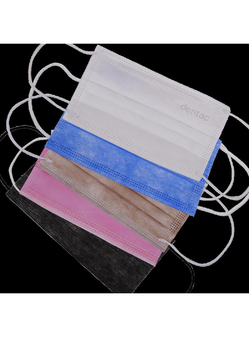 Dentac T-Mask 3 Katlı Renkli Mix Paket Yüz Maskesi 10 Adet
