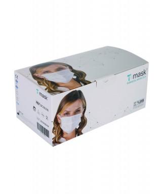 Dentac T-Mask 3 Katlı Renkli Cerrahi Yüz Maskesi ( Su Beji ) 50 Adet