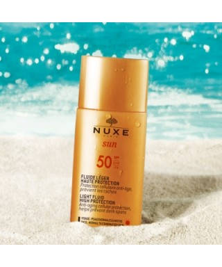 Nuxe Sun Light Fluid High Protection Spf50 Hafif Dokulu Güneş Kremi 50 ml