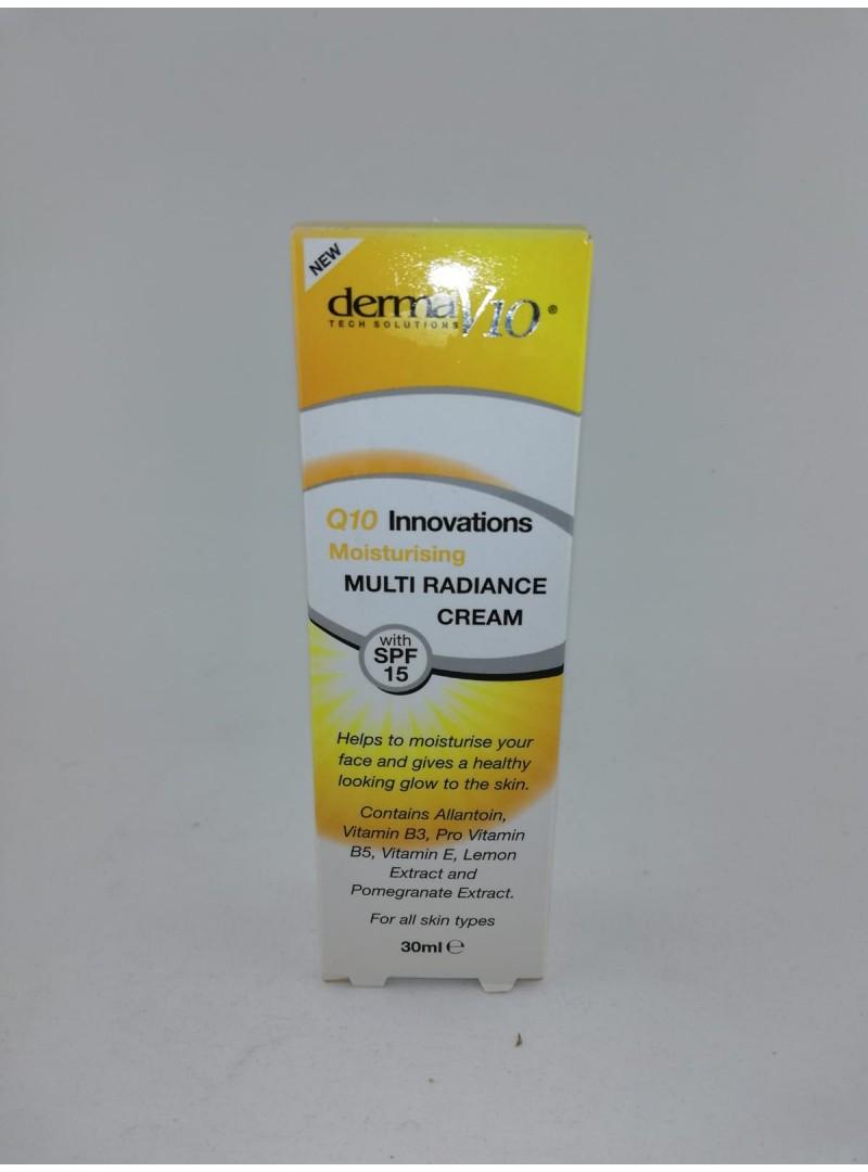 Derma V10 Innovations Moisturizing Multi Radiance Cream spf15 30ml