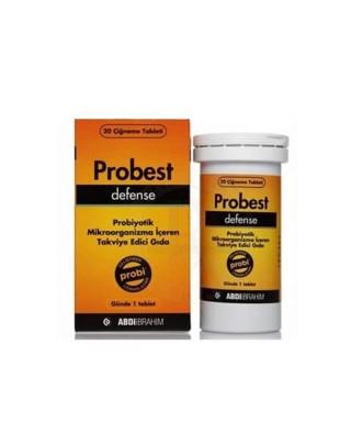 Probest Defence Probiyotik Mikroorganizma İçeren 20 Çiğneme Tableti