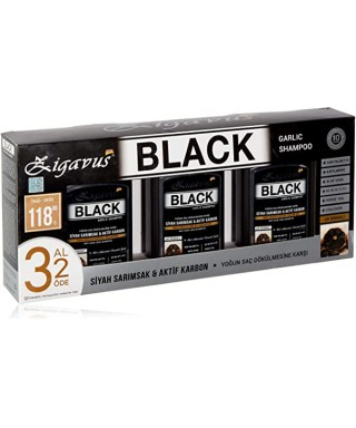 Zigavus Siyah Sarımsak ve Aktif Karbon Şampuan 300 ml   3 AL 2 ÖDE
