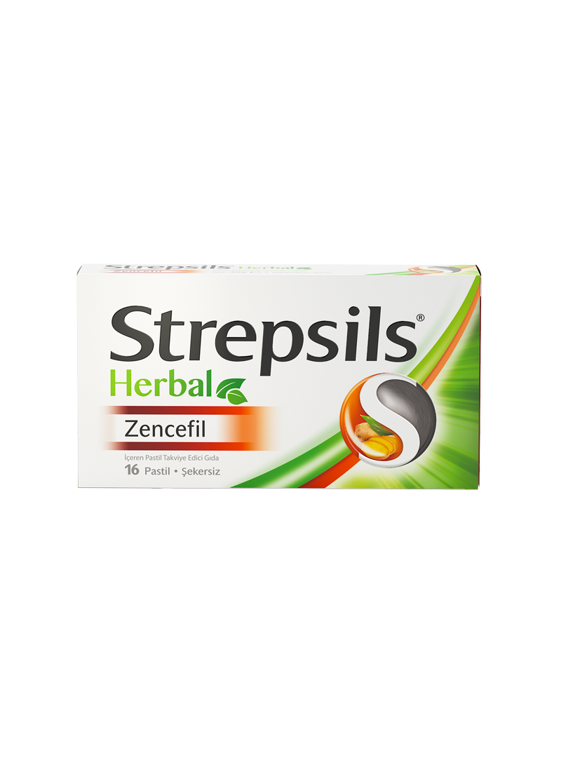 Strepsils Herbal Zencefil 16 Pastil