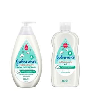 Baby Cottontouch Saç ve Vücut Şampuanı 300 ml + Cottontouch Yağ 300 Ml