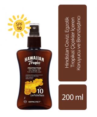 Hawaiian Tropic Protective Dry Oil Spray Spf10 200 ml