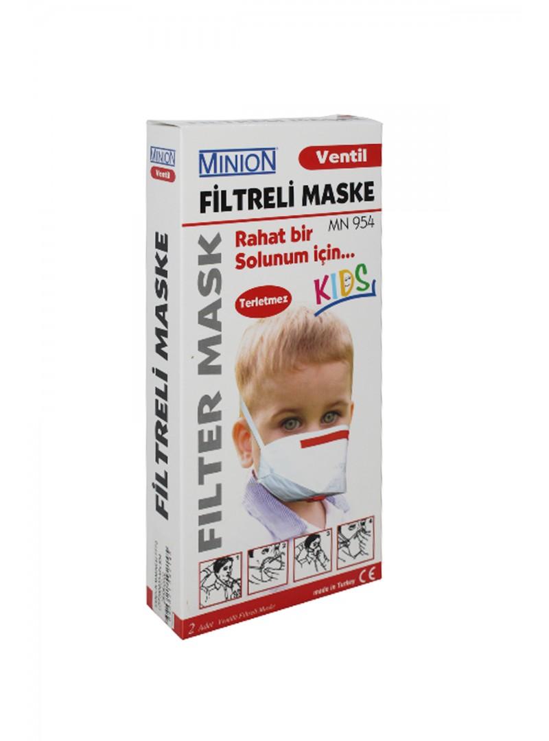 Minion Filtreli Çocuk Maske 2'li MN 954
