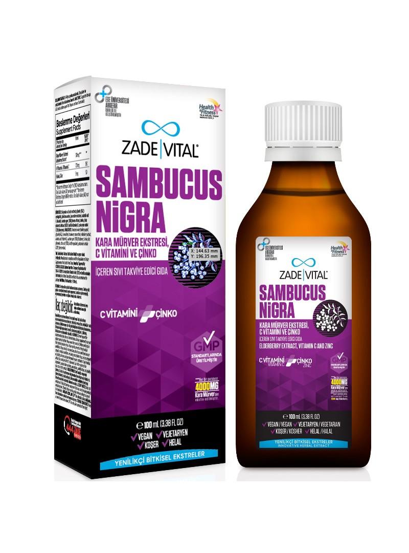 Zade Vital Sambucus Nigra Sıvı Takviye Edici Gıda 100 ml