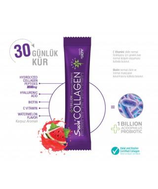 Suda Collagen+Probiotic Karpuz Aromalı Watermelon 10 gr x 30 Saşe + Shaker Hediyeli