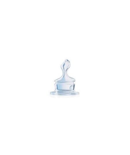 NUK Standart Silikon Biberon Emziği (No:1 L delik) 0-6 Ay