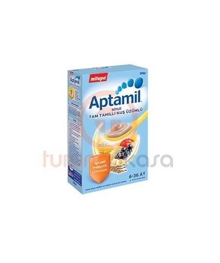Milupa Aptamil Sütlü Tam Tahıllı Kuş Üzümlü 250 g.