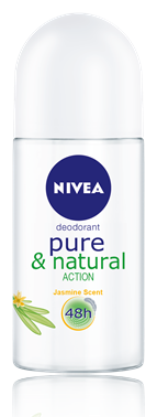 Nivea Deo Roll-On Pure & Naturel Action Pudrasız 50 ml