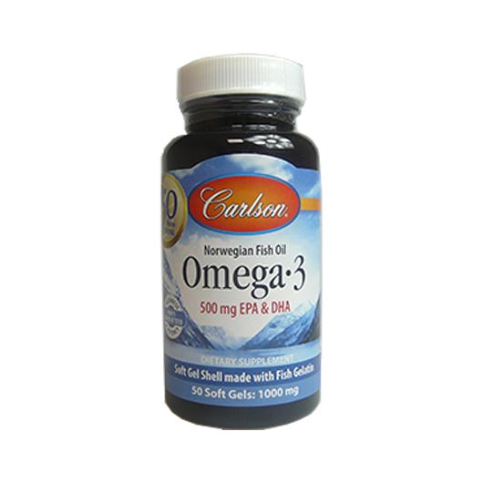 Carlson Fish Oil Balık Yağı Kapsül Omega-3 1000 mg 50 Kapsül