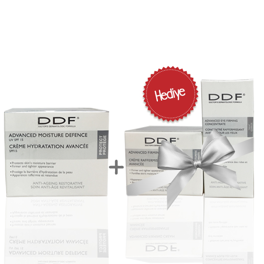 DDF Advanced Moisture Defense UV Cream SPF15 48gr - 2 Ürün Hediyeli