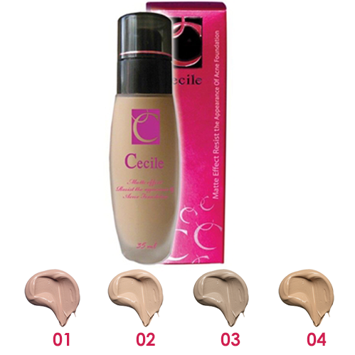 Cecile Matte Effect Resist to Acne Foundation :