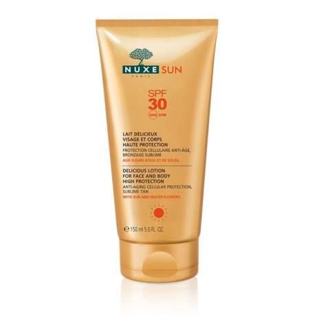 Nuxe Sun Lait Delicieux Protection Spf30 150 ml (Güneş Koruyucu Yüz ve Vücut Sütü)