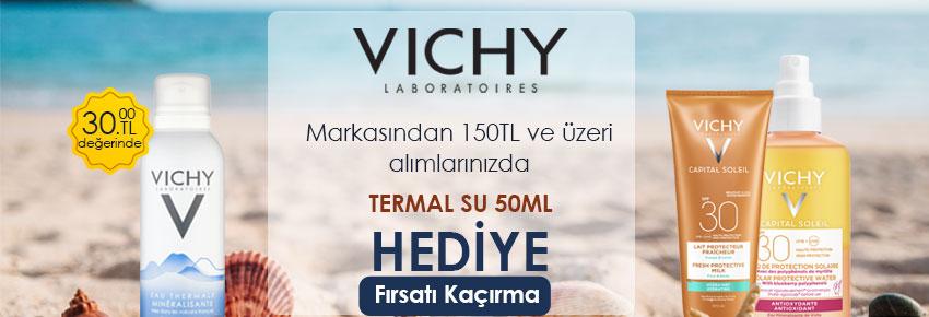 Vichy ürünlerinde termal su hediye